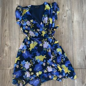 Banana Republic Floral Silk Tie Dress